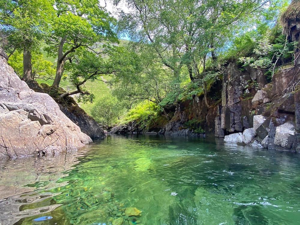 Fairy Glen wild swimming lake district