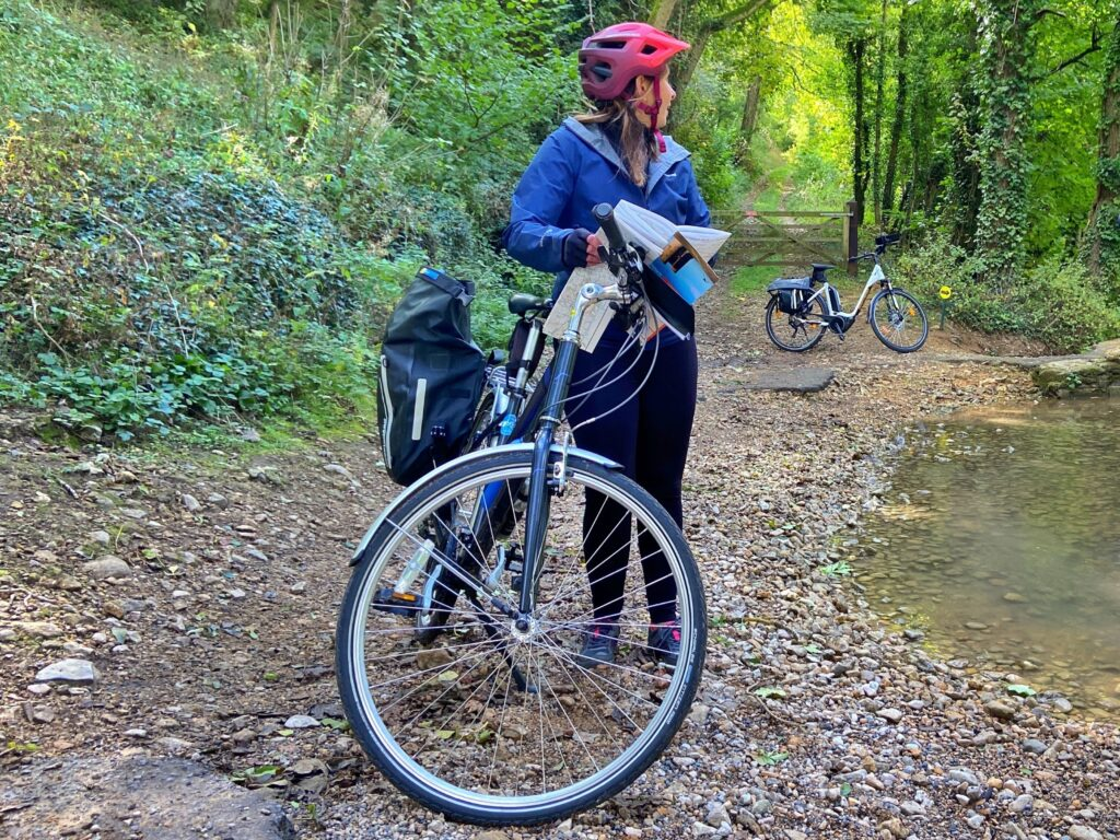 sue talbot on cycling tour of cotswolds