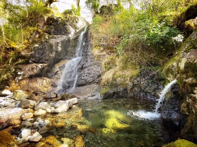 barrow cascade waterfall in the Lake District