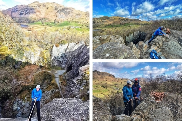 Abseiling in the Lake District