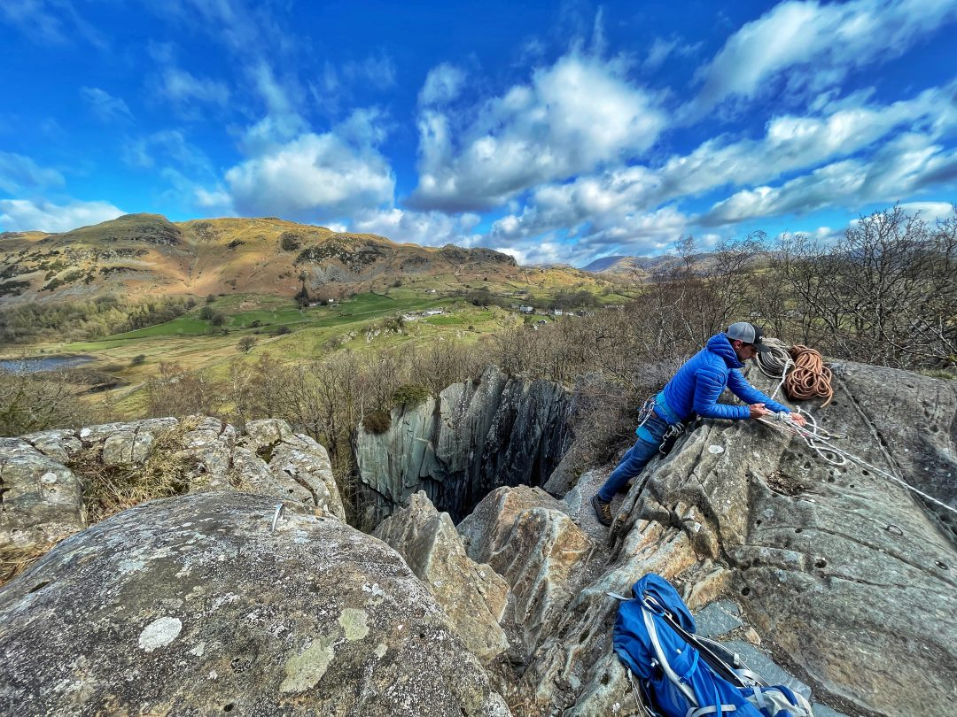 abseiling in the lake district with jack oli