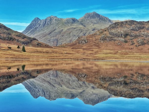Langdale Pikes Reflections on Blea Tarn