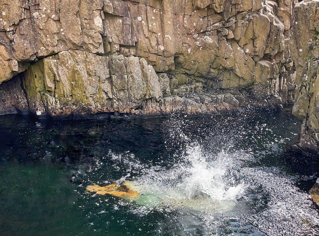 Wild swimming in Black Moss Pot