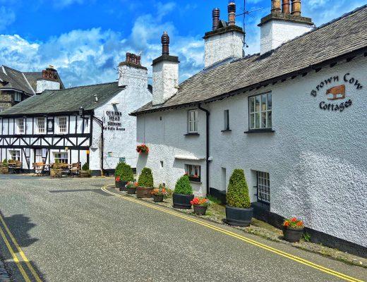 Hawkshead village in the Lake District